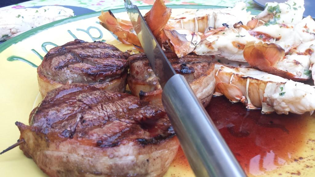 Anniversary Dinner – Filet and Lobster | Big Man, Little Kitchen